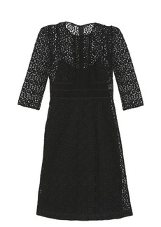Burberry Prorsum Contrasting-lace shift dress