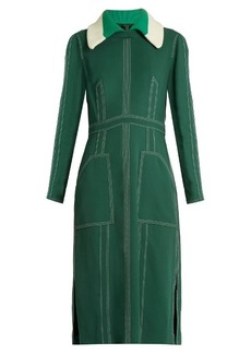 Burberry Prorsum Detachable-collar crepe dress