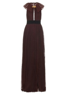 Burberry Prorsum Flocked polka-dot tulle gown