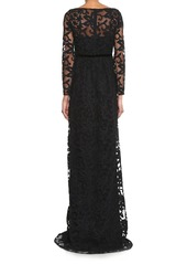 Burberry Prorsum Floral cotton-blend lace gown