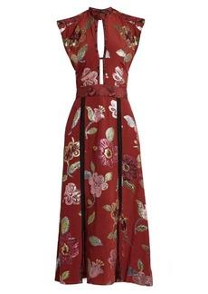 Burberry Prorsum Floral fil coupé silk crepe de Chine gown