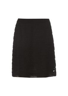 Burberry Prorsum High-waist cotton-blend lace skirt