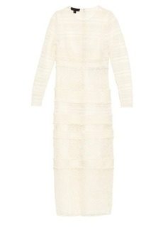 Burberry Prorsum Long-sleeved multi macramé-lace dress