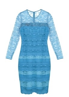 Burberry Prorsum Long-sleeved tiered-lace dress