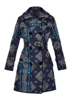 Burberry Prorsum Paisley-print quilted trench coat