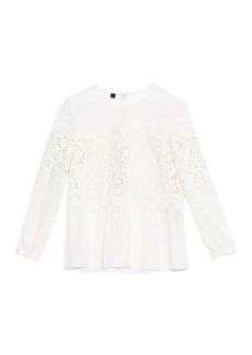 Burberry Prorsum Peplum-waist lace blouse