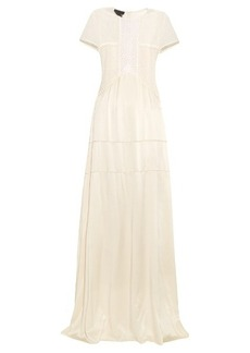 Burberry Prorsum Short-sleeved guipure-lace and silk dress
