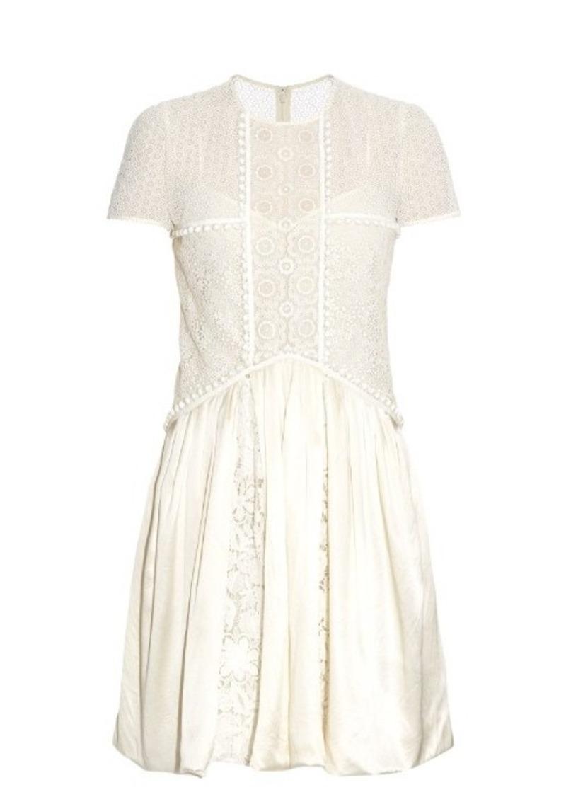 Burberry Prorsum Short-sleeved lace dress