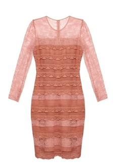 Burberry Prorsum Tiered French-lace dress