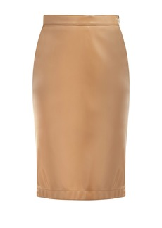 Burberry PVC high-rise pencil skirt