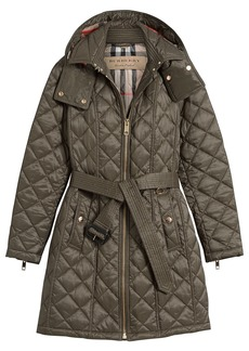 Burberry quilted showerproof parka - Grey