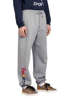 Burberry Rainbow Embroidered-Logo Cotton Sweatpants