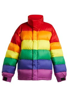 Burberry Rainbow oversized quilted down jacket