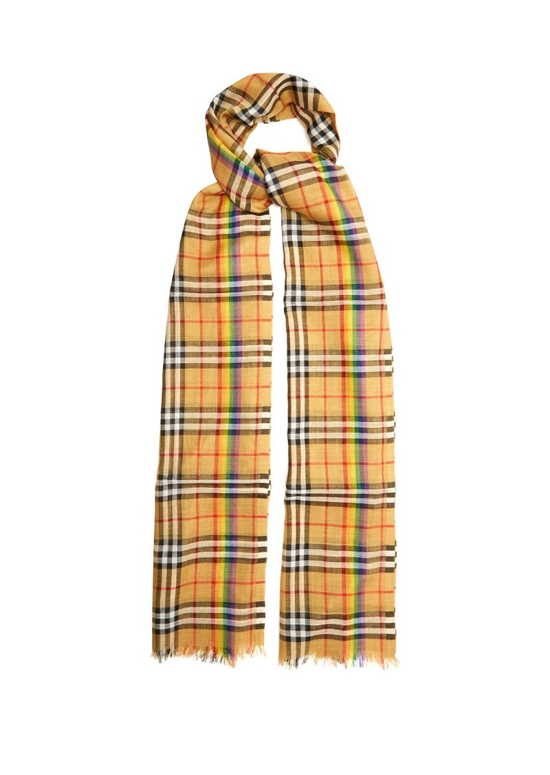 8386766ae32903 Burberry Burberry Rainbow striped Vintage check scarf | Misc Accessories