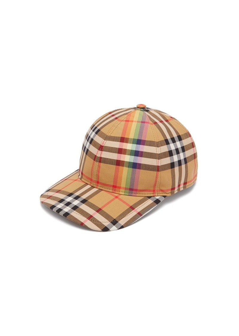 90e1c33268f Burberry Burberry Rainbow Vintage check cotton cap