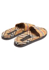 a17381fb675 Burberry Burberry Rainbow Vintage-checked slides