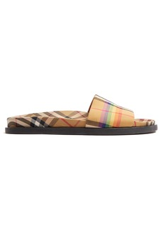 Burberry Rainbow Vintage-checked slides