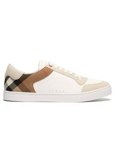 Burberry Reeth checked-panel leather trainers