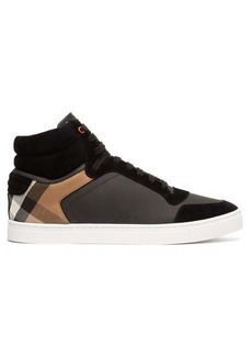 Burberry Reeth House-check leather and suede trainers