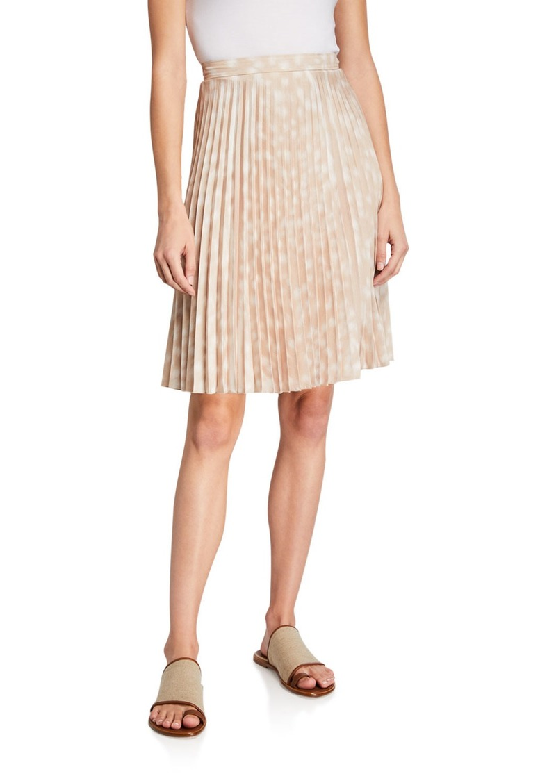 Burberry Rersby Pleated Silk Skirt