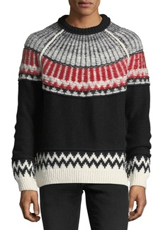 Burberry Reverse Fair Isle Cashmere Sweater