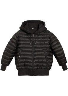 Burberry reversible hooded bomber jacket - Black