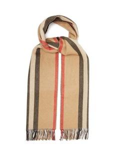 Burberry Reversible Icon-stripe cashmere scarf