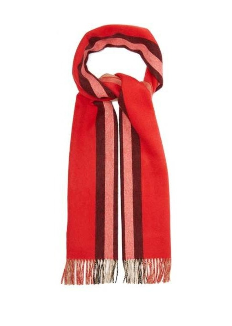 Burberry Reversible Icon-striped cashmere scarf
