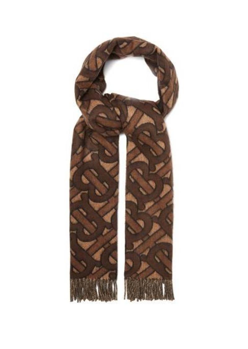 Burberry Reversible TB Monogram cashmere scarf