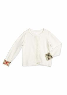 Burberry Rheta Cotton Button-Front Cardigan