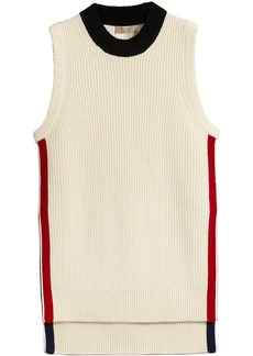 Burberry rib knit vest - White