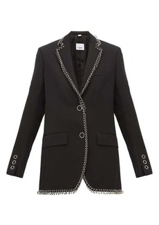 Burberry Ring-embellished single-breasted wool blazer