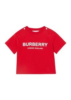 Burberry Robbie Cotton Logo Tee  Size 6M-2