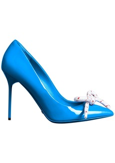 Burberry Rope Detail Patent Leather Pumps - Blue