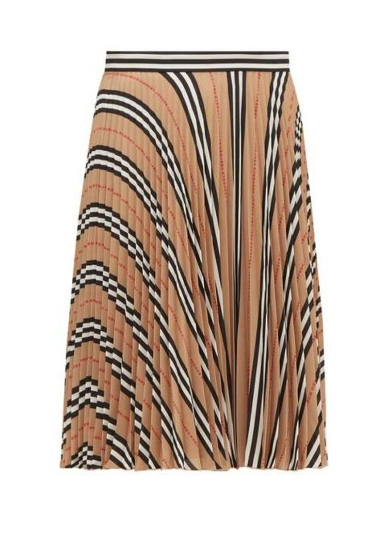 Burberry Rorsby Icon-stripe pleated skirt