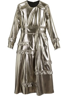 Burberry ruffle-trimmed lamé dress - Metallic