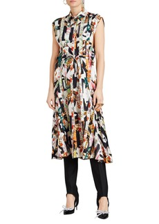 Burberry Sacha Printed Button-Front Midi Dress