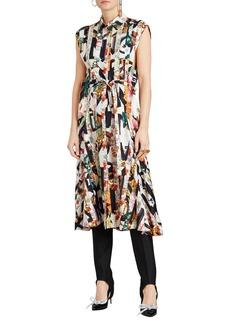 Burberry Sacha Printed Button-Front Midi Dress