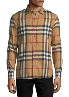 Burberry Salwick Check-Print Shirt