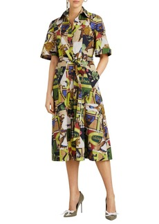 Burberry Sanna Printed Midi-Length Tunic Dress