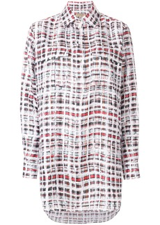 Burberry scribble check shirt - White