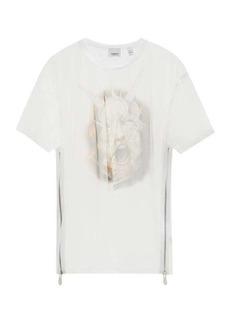 Burberry Sea Maiden-print organza T-shirt