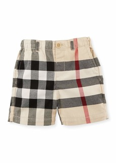 Burberry Sean Cotton Check Shorts