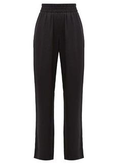 Burberry Seighford high-rise silk-satin trousers