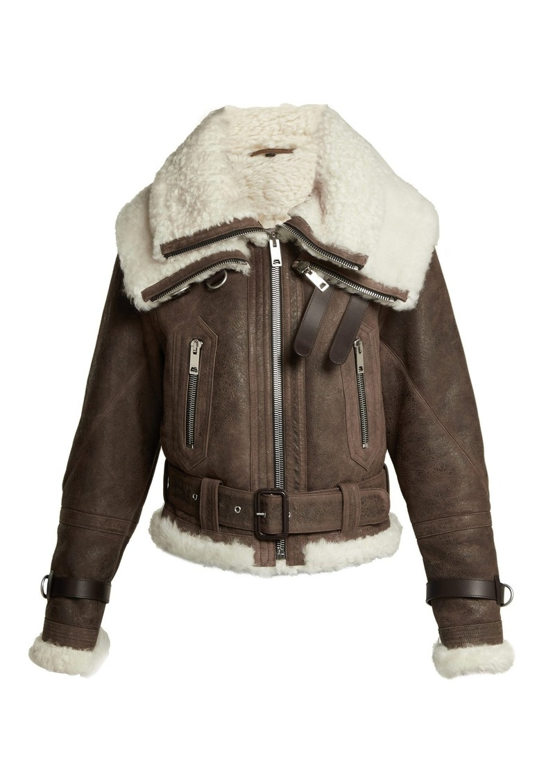 98de1fac503 Shearling and leather aviator jacket