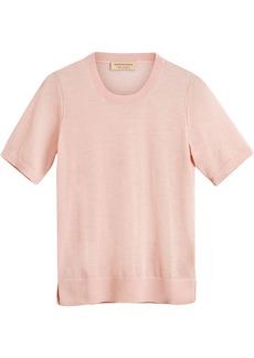 Burberry short-sleeve cashmere sweater - Pink & Purple