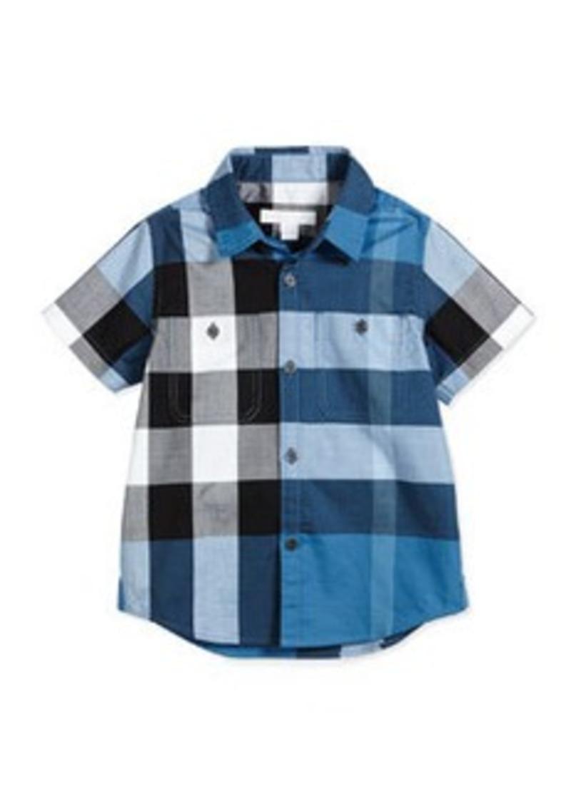 Burberry Short-Sleeve Mini Camber Check Shirt