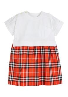 Burberry Short-Sleeve T-Shirt & Plaid Skirt Dress  Size 3-14