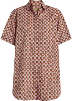 Burberry Short-sleeve Tiled Archive Print Shirt - Pink & Purple