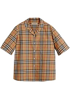 Burberry Short-sleeve Vintage Check Shirt - Brown
